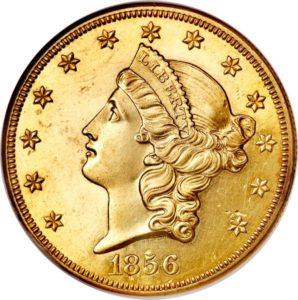 $ 20 1856 O Hlava