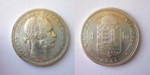 Zlatník Forint 1880 K.B.