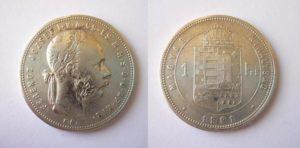 Zlatník Forint 1881 K.B.
