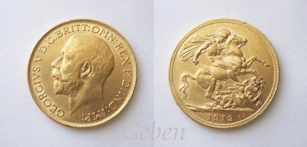 Sovereign 1912 Král Jiří