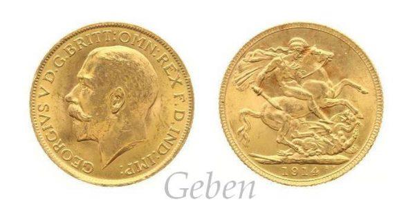 Sovereign 1914 Král Jiří