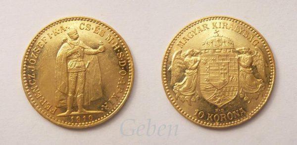 10 Koruna 1910 K.B.