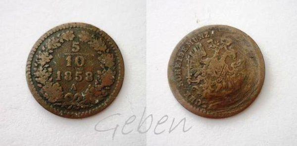 5/10 Krejcaru 1858 A