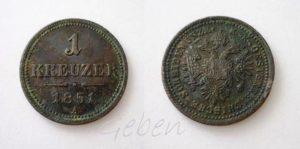 1 Krejcar 1851 A