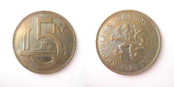 5 Kč 1925