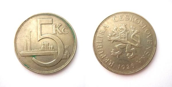 5 Kč 1926