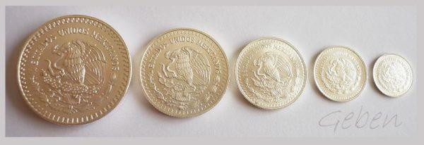 Mexiko - sada stříbrných mincí 1992