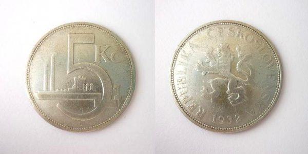 5 Kč 1932 R !