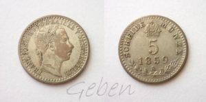 5 Krejcar 1859 A