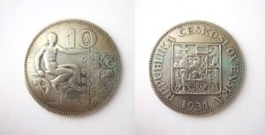 10 Kč 1931 stříbrná