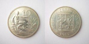 10 Kč 1932 stříbrná