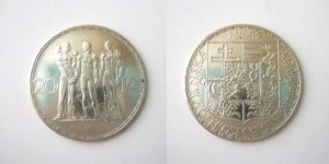 20 Kč 1934 stříbrná - Nádherný stav !