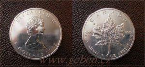 5 Dollars 1988 Maple Leaf - První ročník !