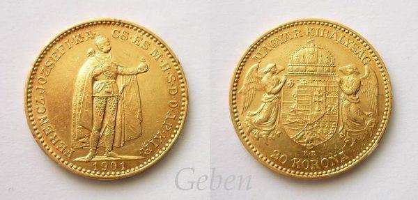 20 Koruna 1901 K.B.