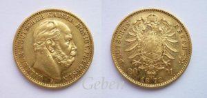 20 Mark 1872 A Wilhelm I.