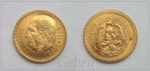 2 1/2 Pesos 1945 Mexiko