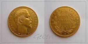 20 Frank 1855 A NAPOLEON III.