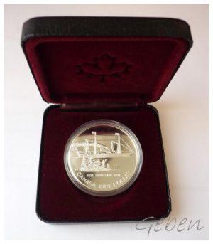 Canada 1991 Dollar - Parník Frontenac