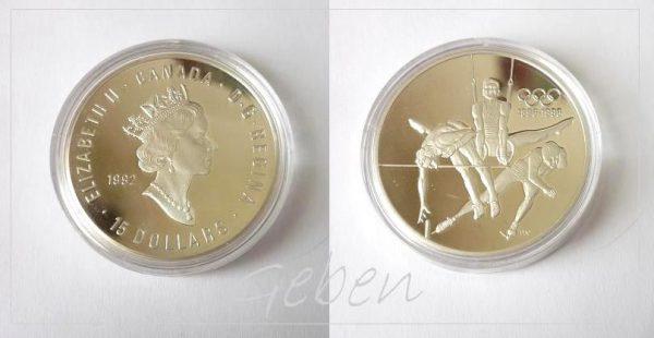 Canada 1992 15 Dollars - 100 let OH 1 Oz