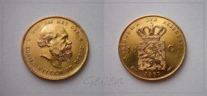 10 Gulden 1877 Willem III. Nizozemí