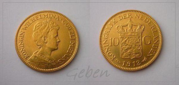 10 Gulden 1912 Wilhelmina I. Holand
