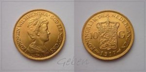 10 Gulden 1917 Wilhelmina I.