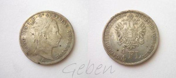 1/4 Florin 1859 A