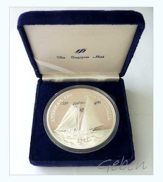 Stříbrná mince 25 Dollars 1987 AMERICA'S CUP