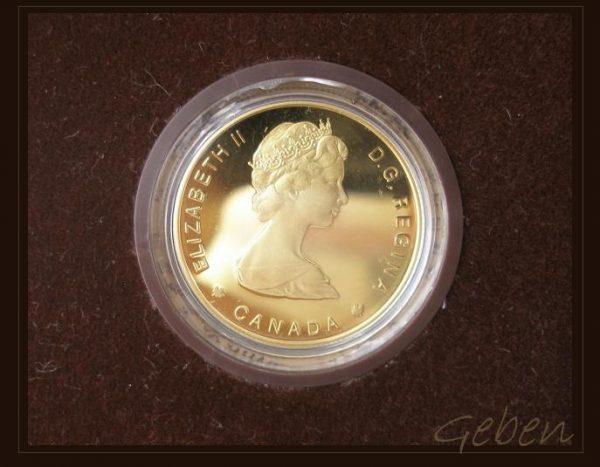 Zlatá mince 100 Dollars Indián - Sainte Marie 1639-1989
