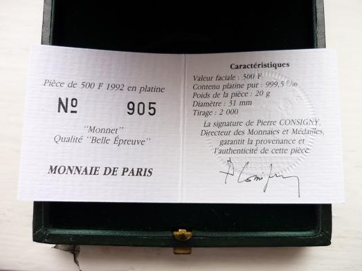 500 Frank 1992 PLATINA R