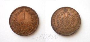 1 Krejcar 1860 B