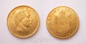 20 Frank 1862 A Napoleon III.