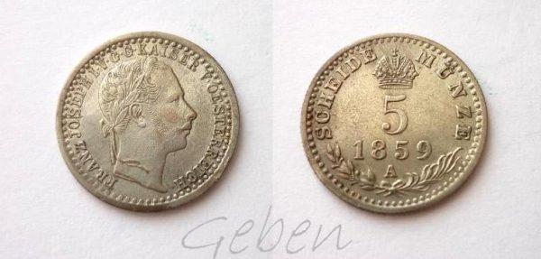 5. Krejcar 1859 A