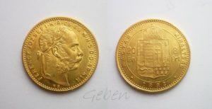 Osmizlatník - 8 Forint 1882 K.B.