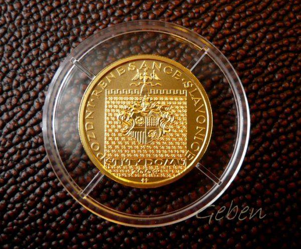 Zlatá mince 2000 Kč Slavonice Pozdní renesance