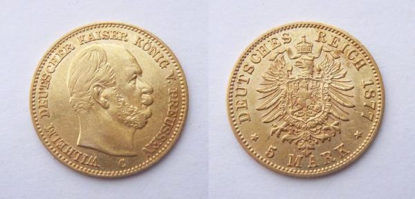 5 Mark 1877 C Wilhelm I.