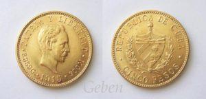 5 Pesos 1915 Vzácné