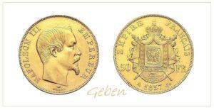 50 Frank 1857 A Napoleon III.