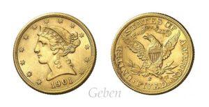 5 Dollars 1901 S Liberty