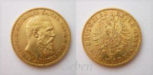 20 Mark 1888 Friedrich III.
