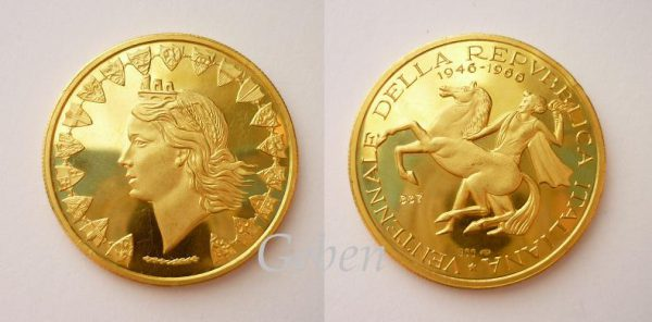 VELKÁ zlatá medaile ITÁLIE