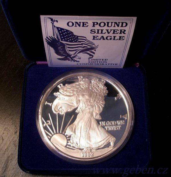 ONE POUND SILVER EAGLE 12 Oz !