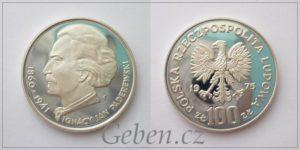100 Zlotych Paderewski PROOF