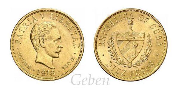 10 Pesos 1916
