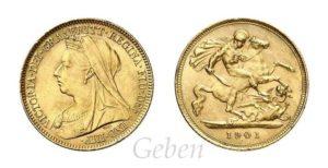 Half Sovereign 1901 Victoria