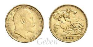 Half Sovereign 1909 Edward VII.