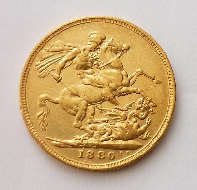 Sovereign 1880 M ! Victoria Young Head Austrálie
