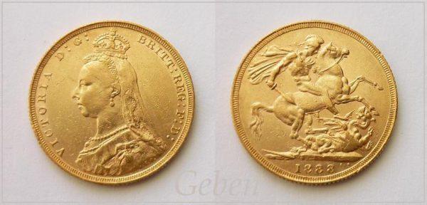 Sovereign 1888 Victoria - II. portrét