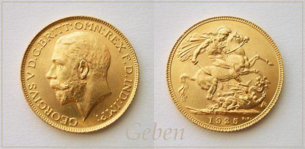 Sovereign 1925 George V.