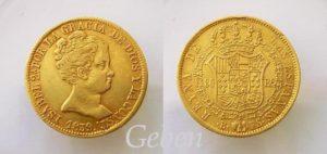 80 Reales 1839 B Isabela II.